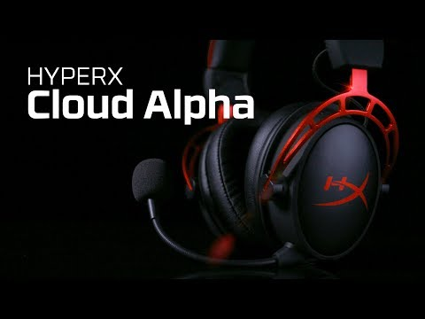 HyperX Cloud Alpha gamer mikrofonos fejhallgató, fekete-vörös (HX-HSCA-RD/EM)