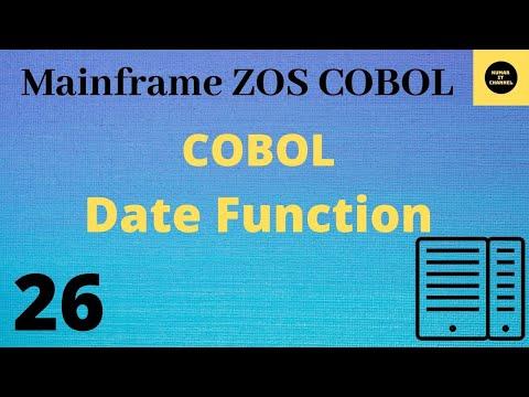 Mainframe - cobol practical tutorial using date function
