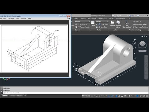AutoCAD 2015 3D Tutorial For Beginners