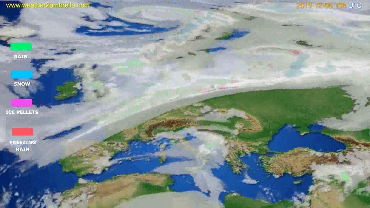 Precipitation forecast Europe // modelrun: 00h UTC 2019-12-05