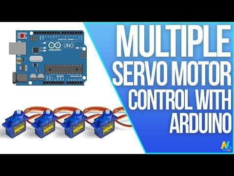 Multiple Servo Control with Arduino Uno R3