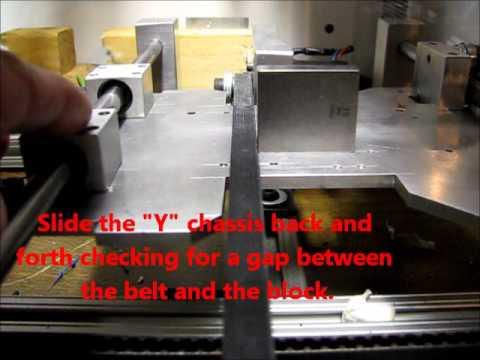 Y Axis Belt Alignment for a RepRap, Mendel, Prusa, RepStrap 3D Printer