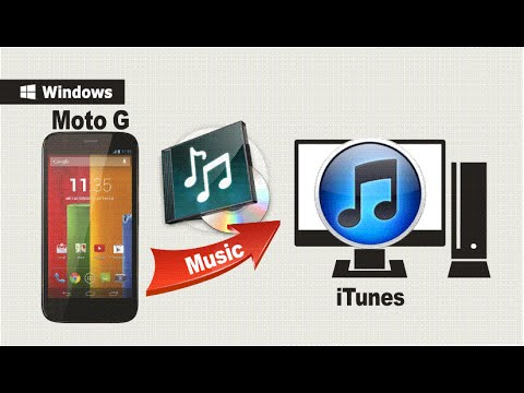 how to transfer songs from laptop to moto g