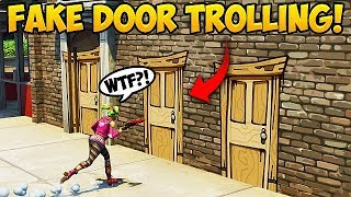 Download Video NEW *FAKE DOOR* TROLL! - Fortnite Funny Fails and WTF Moments! #295 MP3 3GP MP4