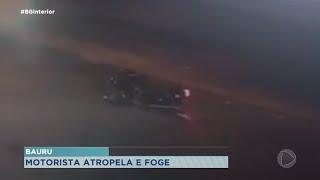Bauru:  motociclista é atropelado e condutor  foge sem prestar socorro