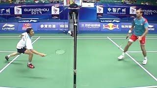 Nguyen Tien Minh of Vietnam plays Jan O Jorgensen of Denmark in the Men's Singles quarter finals of the Wang Lao Ji BWF World Championships 2013. Subscribe f...