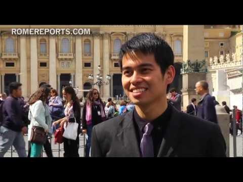 Paavst Franciscus tervitas UNIV 2013 osalejaid