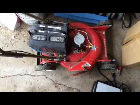 Home brew battery electric lawn mower!
