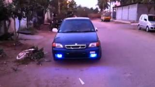 Free flow exhaust in maruthi esteem 2000 VXI india ... Fitted in the concept of police lights