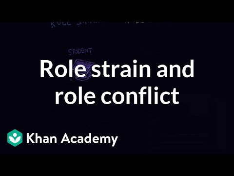 role strain role conflict