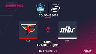 FaZe vs MIBR - ESL One Cologne 2018 - map2 - de_mirage [ceh9, CrystalMay]