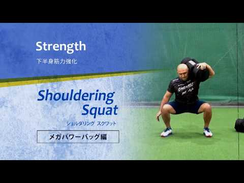 【メガパワーバッグ】下半身や背中の筋力強化とパワー向上