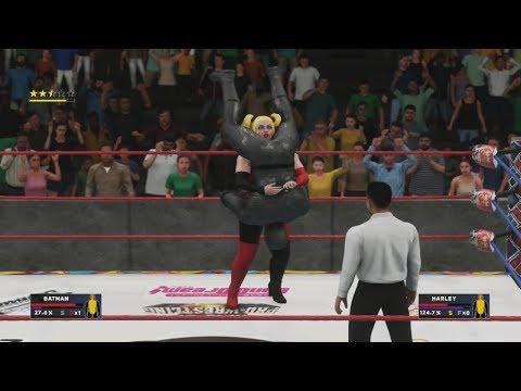 WIWA Wrestling Match #297: Batman vs Harley Quinn WIWA IC championship match