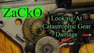 This video is about catastrophic gear damage.