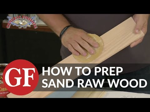 How to Prep Sand New Wood
