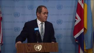 Informal comments to the media by H.E. Mr. Sabri Boukadoum, Permanent Representative of Algeria to the United Nations following the adoption of Security ...
