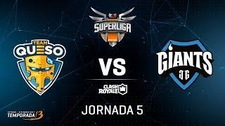 SUPERLIGA ORANGE - Team Queso vs Giants Gaming - Jornada 5 - #SuperligaOrangeCR5