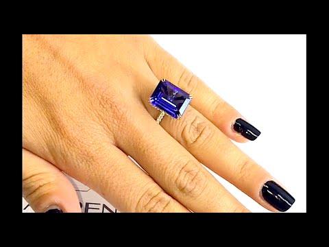 10 carat Tanzanite Engagement Ring