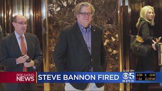 White House fires presidential adviser Steve Bannon.