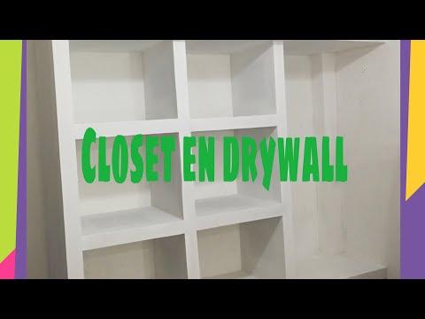 ✅ como hacer un closet en drywall muy facil - 2020
