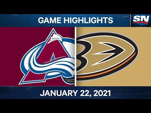 NHL Game Highlights | Avalanche vs. Ducks - Jan. 22, 2021