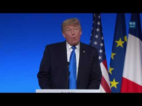 President Trump Holds a Joint Press Conference with President Macron