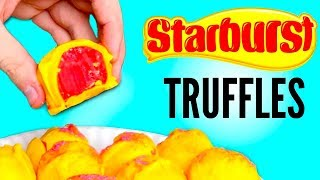 STARBURST CHOCOLATE CANDY TRUFFLES DIY  How Tothis is how to make DIY starburst chocolate candy truffles y'all! this dessert recipe is literally so delicious! it mixes starburst candy with chocolate truffles and just tastes amazing! let me know what other diys you want me to make with starburst, or other candy!WATCH MY LAST VIDEO: https://youtu.be/1FcaZO0aTS8FOLLOW ME!Twitter  @TimmysWellInstagram  @TimmyswellSnapChat  timmyalvarezYounow  TimmyTimatobasically what i did in this how to starburst candy diy was i put white chocolate into different containers! i then added the starburst, butter and heavy cream and melted it all together! i then added flavoring and food coloring to the candy  mixture and mixed it all together! i put it in the fridge for a few hours and it turned into this starburst candy dough! i then coated the mixture in candy melts and added some sprinkles! i made three starburst flavors which were cherry orange and strawberry! they all tasted amazing but the orange starburst was my favorite truffle! making these candy truffles was so fun y'all! thank you guys for watching!