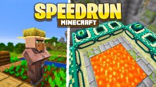I BEAT MINECRAFT IN 30 MINUTES (Minecraft 1.16.1 Speedrun)