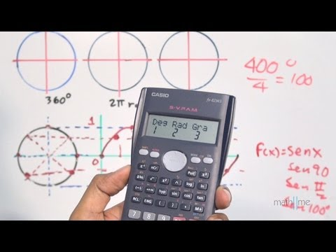 Modus DEG / RAD / GRAD Eines wissenschaftlicher Taschenrechners