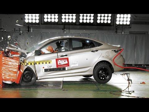 Hyundai Solaris Краш-тест Авторевю: Hyundai Solaris
