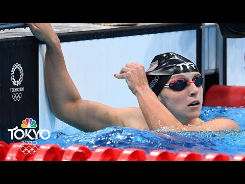 Katie Ledecky tops 200m freestyle semi, sets up Ariarne Titmus rematch | Tokyo Olympics | NBC Sports