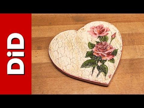 decoupage - decorazione cracklè su legno