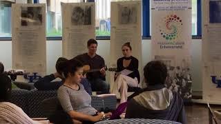 Medical students Derek Spath and Michelle Whittum perform
