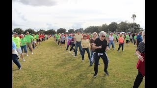 8. Thousands of Villagers attempt line dance record in support of lymphoma research
