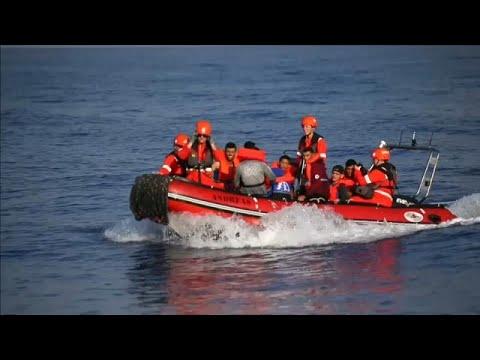 Διάσωση μεταναστών στη Λαμπεντούζα
