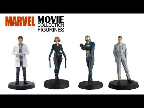 Marvel Movie Figurine Collection - 36,37,38 & 39 -Bruce Banner,Black Widow,Nova Corps,Howard Stark