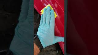 8. restoring the plastic fenders on the Mahindra 1533
