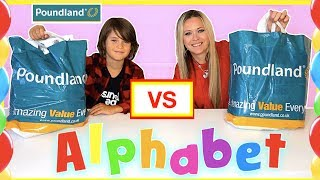 Video ALPHABET POUNDLAND SHOPPING CHALLENGE 😁 kid vs mum 😮 ABC Haul MP3, 3GP, MP4, WEBM, AVI, FLV Desember 2018