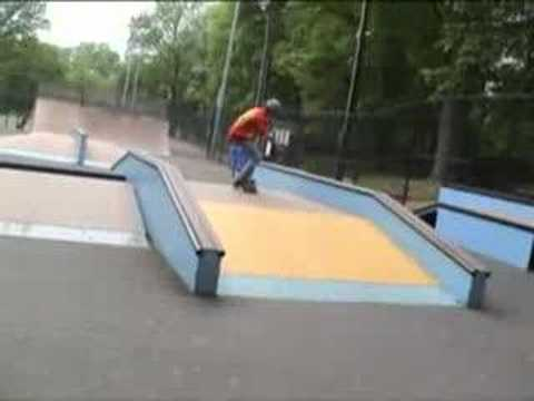 rockville skatepark and intense two stair action
