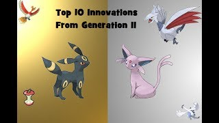 The title is long, but it gives you a good idea what this list is about. Pokemon has seen many innovations from Red and Blue, but a lot of those came way back in Gen II (Gold/Silver), so let's count down what I think are the best!BTW I am on the Twitter https://twitter.com/TheJrose11 - give me a follow if you'd like I ask questions from time to time.