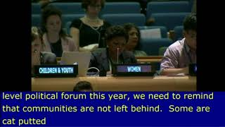 Evelyn Ugbe's intervention at the HLPF 2016: http://webtv.un.org