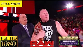 Nonton WWE Monday Night  Raw full show  2 April 2018  - WWE Monday Night Raw 2/4/2018 full show Film Subtitle Indonesia Streaming Movie Download