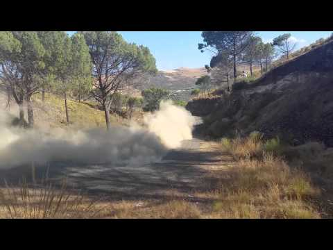 Vídeo test en Málaga España del Toyota Yaris WRC Agosto 2015