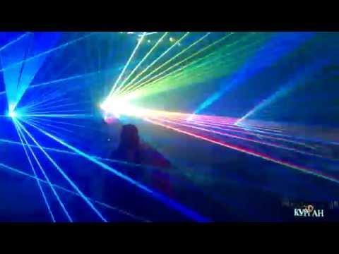 """Лазерное шоу на свадьбе в шатре банкетного комплекса """"Эрмитаж"""" 25.07.2015"""