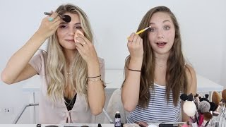 No Mirror Makeup Challenge ft. Olivia Jade !!!