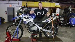 2. 2006 BMW Dakar F 650 GS (blu-gry) Fallen Cycles Test Ride