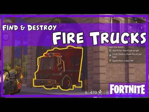 FORTNITE Guide - Daily Destroy (Fire Trucks)