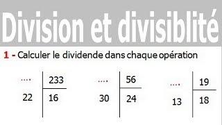 Maths 6ème - Division et divisibilité Exercice 10