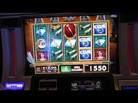 Clue Slot Machine Bonus-Big WIN!