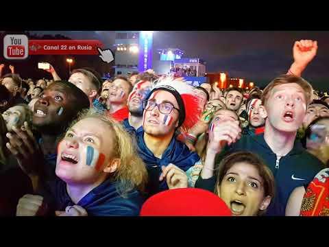 FRANCE vs BELGIUM (1 - 0) Fan reactions in Moscow Fan Fest...